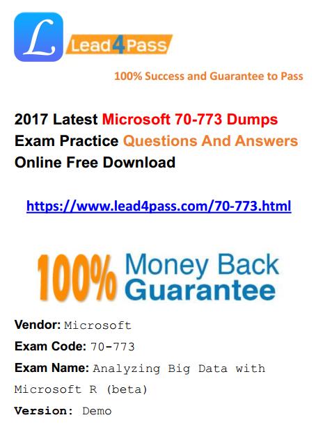 70-773 dumps